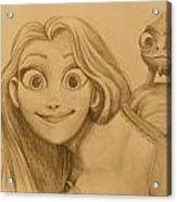 Rapunzel And Pascal Acrylic Print