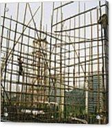 Rare Bamboo Scaffolding Used In Hong Acrylic Print
