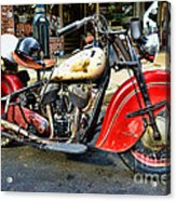 Rare Indian Motorcycle Acrylic Print