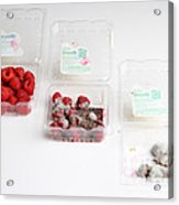 Raspberries Growing Mold Acrylic Print