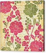 Raspberry Sorbet Floral 2 Acrylic Print