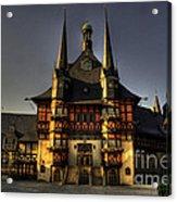 Rathaus At Wernigerode Acrylic Print