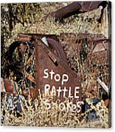 Rattlesnake Warning Acrylic Print