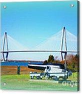 Ravanel Bridge At Patriot Point Charleston Sc Acrylic Print