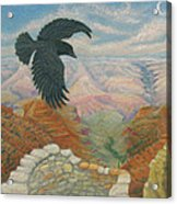 Raven Over The South Rim  Acrylic Print