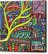 Raven Spirit Tree Totem Goddess Acrylic Print