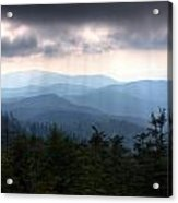 Rays Of Light Over The Great Smoky Mountains Acrylic Print