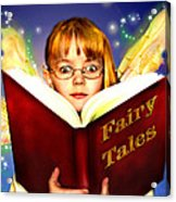 Read More Fairy Tales Acrylic Print by Nada Meeks