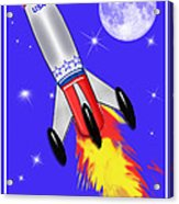 Really Cool Rocket In Space Acrylic Print