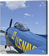 Rear View Of A F8f Bearcat Parked Acrylic Print