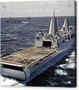 Rear View Of Uss Green Bay Acrylic Print