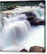 Rearguard Falls Acrylic Print by Terry Elniski