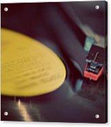 Record Player Acrylic Print