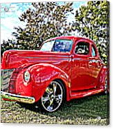 Red 1940 Ford Deluxe Coupe Acrylic Print