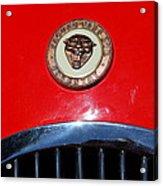 Red 1952 Jaguar Xk120 . 7d15952 Acrylic Print