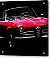 Red Alfa Romeo 1600 Giulia Spider Acrylic Print