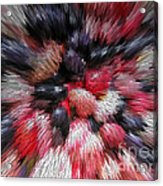 Red And Black Explosion #01 Acrylic Print