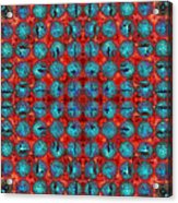 Red And Blue Abstract Acrylic Print