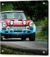 Red And Blue Fiat Abarth Acrylic Print