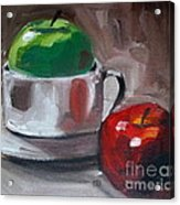 Red And Green Apples Acrylic Print by Samantha Black
