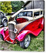Red And White Chop Top Acrylic Print