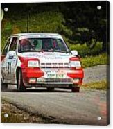 Red And White Renault 5 Acrylic Print