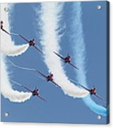 Red Arrows - Formation Magic Acrylic Print