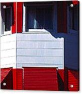 Red Awnings Acrylic Print