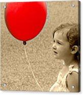 Red Baloon Acrylic Print