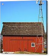 Red Barn And Windmill Acrylic Print