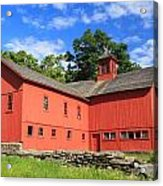 Red Barn At Bryant Homestead Acrylic Print by John Burk