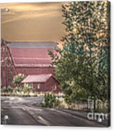 Red Barn At The Curve Acrylic Print