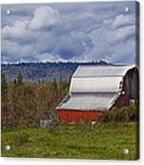 Red Barn With Tin Roof Acrylic Print
