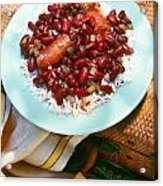 Red Beans And Rice Acrylic Print