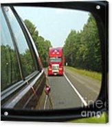 Red Big Truck Behind Acrylic Print