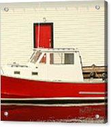 Red Boat Red Door Acrylic Print