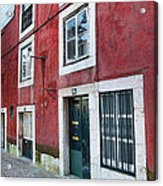 Red Building  Lisboa Portugal Acrylic Print