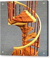 Red Cedar Rustic Spiral Stairs Acrylic Print