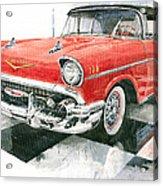 Red Chevrolet 1957 Acrylic Print