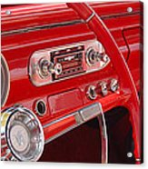 Red Chevy II Acrylic Print