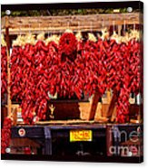 Red Chili Ristra Truck Acrylic Print