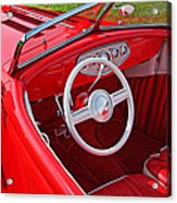 Red Classic Car Acrylic Print