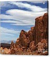 Red Cliffs Blue Sky Acrylic Print