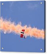 Red Devils Free Fall Parachute Team Acrylic Print
