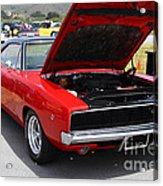 Red Dodge Charger Hotrod . 7d15275 Acrylic Print