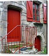 Red Door In Laroche Bernard Acrylic Print