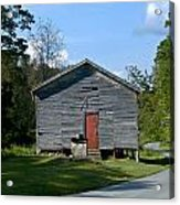 Red Door Of The One Room School House Acrylic Print