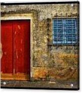 Red Doors Acrylic Print by Mauro Celotti