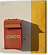 Red Faded Mailbox Of Portugal II Acrylic Print