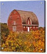 Red Fall Barn Acrylic Print